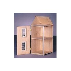 2 Story Gable Wing Dollhouse Addition, Milled Mdf