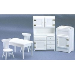 White 5 Piece Kitchen Set
