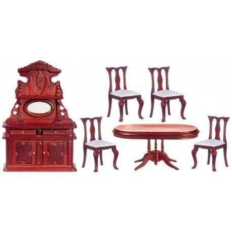 Mahogany Oval Dining Room Set
