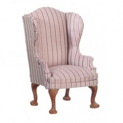 Queen Anne Wing Back Chair Lavender