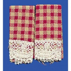 Dish Towels Country Red 2pc