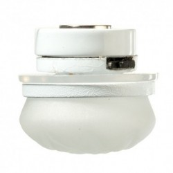LED White Ceiling Lamp Frosted Etched