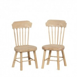 Pair of Unfinished Side Chairs