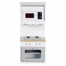 White & Marble Oven With Microwave