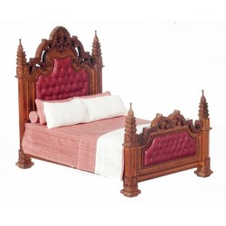 19th Century Gothic Panel Bed Walnut