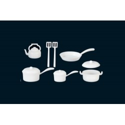 Pot & Pan Set White 10pcs