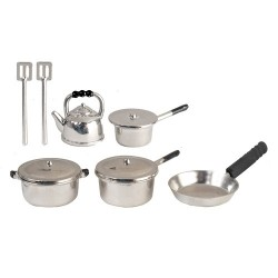 Metal Silver Kitchenware 10pc