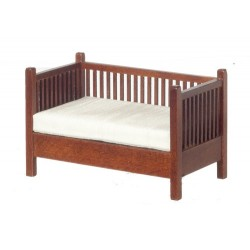 Mission Settee w/Slats Walnut