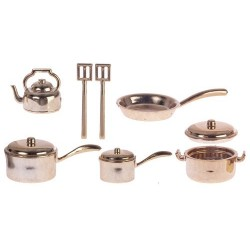 Pot & Pan Set Satin Bronze 10pc