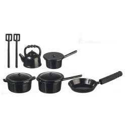 Metal Black Kitchenware 10pc
