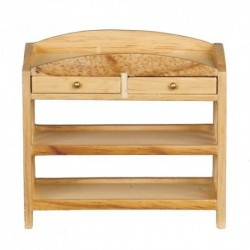 Slatted Changing Table Oak
