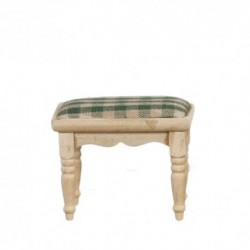 Footstool Green Unfinished