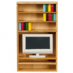 Book Shelf With TV Books Oak