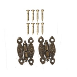 Hinges w/8 Pins Antique Brass 2pc