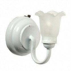 LED White Sconce Frost Floral Shade