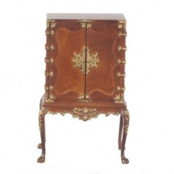 Chinese Chippendale Cabinet Walnut
