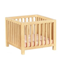 Slatted Play Pen Oak