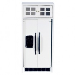 White Refrigerator with White Cabinet