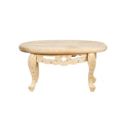 Oval Coffee Table Unfinished