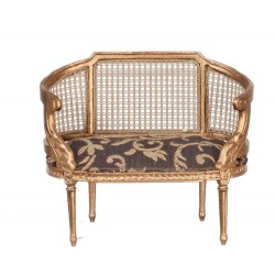 Louis XIV Small Settee Gold