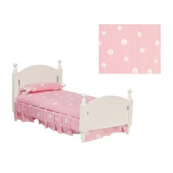 Single Bed Pink & White