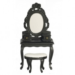 Vanity with Stool Black