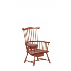 Windsor Chair w/Drawer Walnut