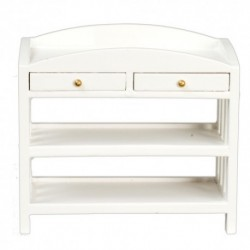 Slatted Changing Table White