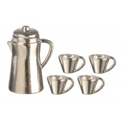 Silver Coffee Set 5pc