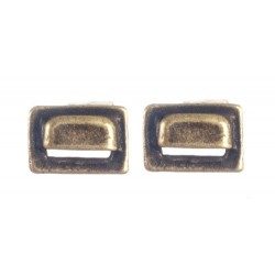 Square Drawer Pulls Antique Brass 2pc