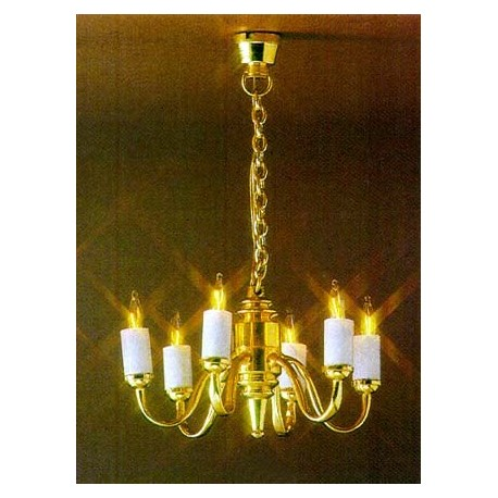 &MH859: CHANDELIER 6-ARM COLONIAL
