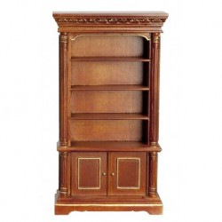 Bookcase Walnut & Gold