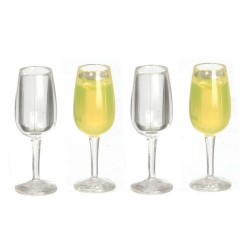 Champagne Glasses - 2 Filled, 2 Empty