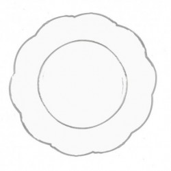 Dinner Plates Clear 12pc