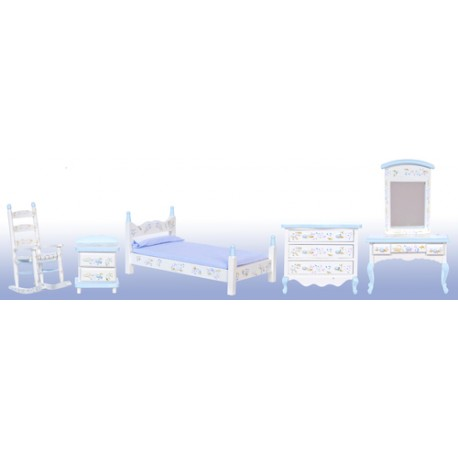 BLUE BEDROOM SET/5/CS
