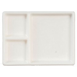 Partitioned Tray, White