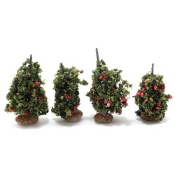 O-Scale Staked Tomato Plants, 4 Pieces