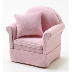 Chair With Pillow, Pink