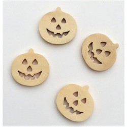 Wood Pumpkins, 4pc