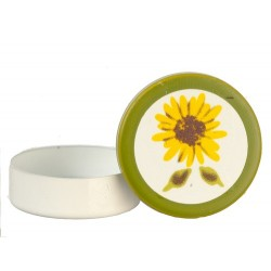 Round Tin/sunflower Desig