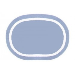 REV. OVAL AREA RUG, DUSTY BLUE