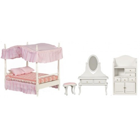 Canopy Bed Set/3/white