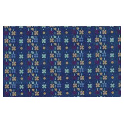 3 Pack Wallpaper Flower/Dot-Blue
