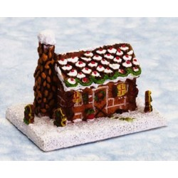 1 IN GINGERBREAD LOG CABIN