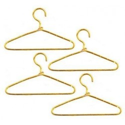 Gold Wire Hangars, 4pc