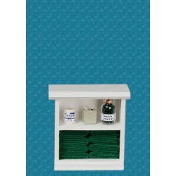 Small Bath Cabinet, Dark Green