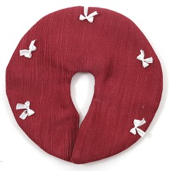 Tree Skirt, Cranberry With White Bows