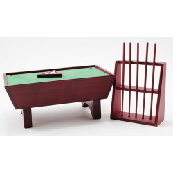 Pool Table Set 24/Mahogany/Cs