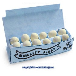 BLUE EGG CARTON- WITH EGGS