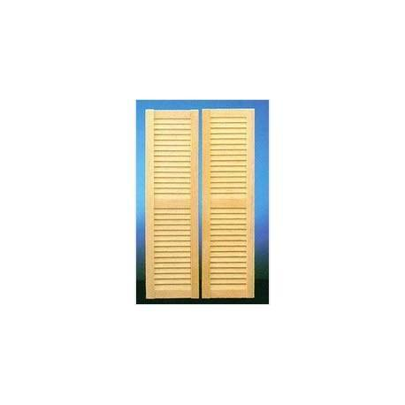 &HW5025: LOUVERED SHUTTERS 4-5/8X1-5/16
